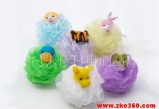 绒布动物沐浴球