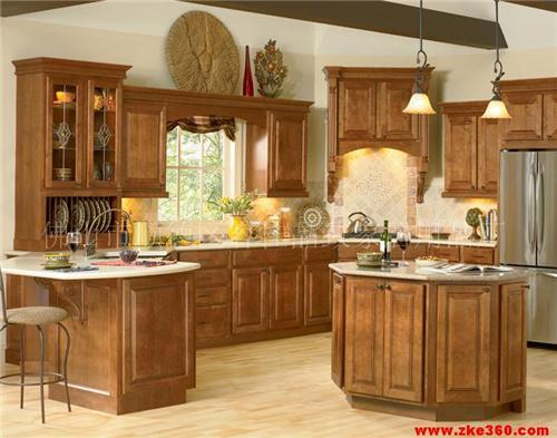 厨房家具---实木橱柜图片