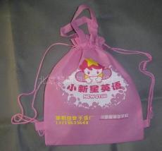 无纺布背袋 儿童书包 幼儿背袋 培训用袋 抽绳袋