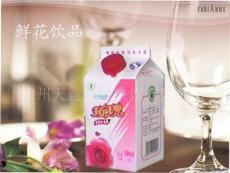 纯情夏季饮品玫瑰鲜花乳